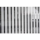 Película Decorativa Listra Branca 3,0x1,0cm Vertical Detalhe