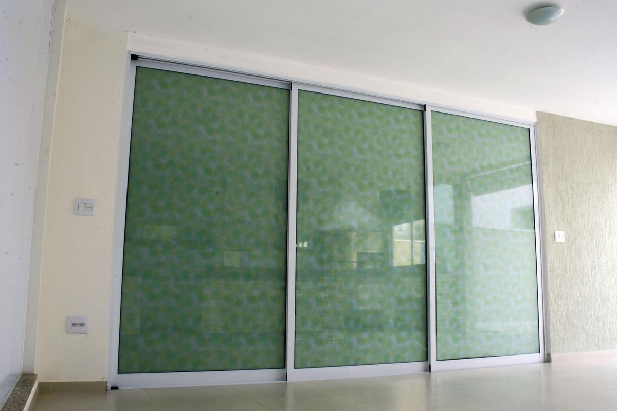 #466048 Película Decorativa Folhas Verdes fundo Branco. Privacidade controle  754 Janelas Vidros Verdes