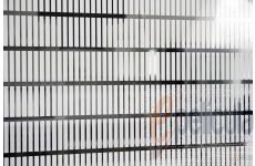 Película Decorativa Barra Branca 4,0x0,5cm Vertical Detalhe