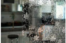 Película Decorativa Flor Prata Instalação Parcial