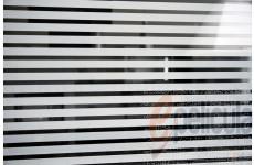 Película Decorativa Listra Branca 1,0x0,5cm Horizontal Detalhe