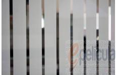 Película Decorativa Listra Branca 4,5x1,0cm Vertical Detalhe