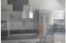 Película Decorativa Listra Prata 0,4x0,2cm Horizontal Detalhe