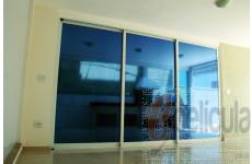 Película Espelhada Metalizada Azul Dia Externo