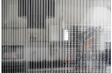 Película Decorativa Listra Prata 0,4x0,2cm Vertical Detalhe
