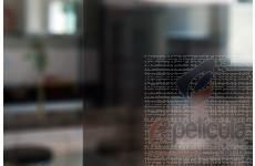 Película Fumê Preta Espelhada Metalizada 20% Instalação Parcial