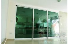 Película Llumar Verde Espelhada Metalizada 30% Dia Externo