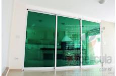 Película Espelhada Metalizada Verde Dia Externo