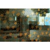 Película Decorativa Flor Dourada Detalhe