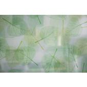 Película Decorativa Folhas Verdes com fundo Branco Detalhe