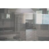 Película Decorativa Listra Branca 0,5x0,5cm Horizontal Detalhe