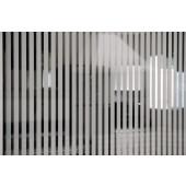 Película Decorativa Listra Branca 1,0x0,5cm Vertical Detalhe