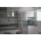 Película Decorativa Listra Prata 1,0x0,5cm Horizontal Detalhe
