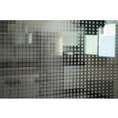 Película Decorativa Quadrado Prata Degradê Detalhe