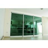 Película Color Verde Espelhada Metalizada 35% Dia Externo