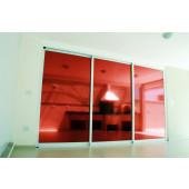 Película Espelhada Metalizada Vermelha Dia Externo